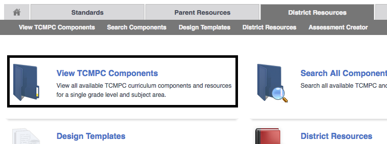 view tcmpc components teks resource system support
